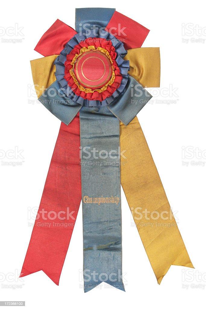 Old Championship ribbon royalty-free stock photo