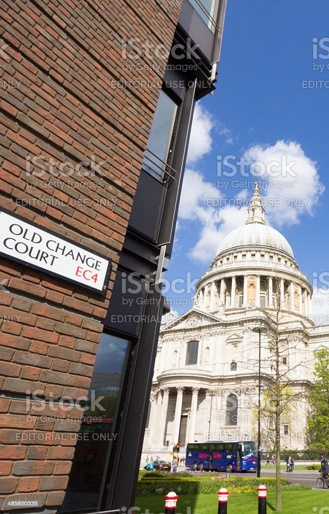Old Change Court on Peters Hill, London royalty-free stock photo