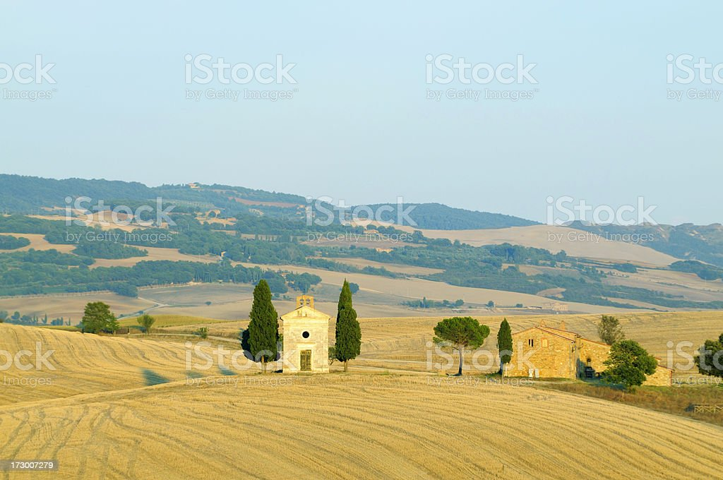 Old chapel at sunset royalty-free stock photo