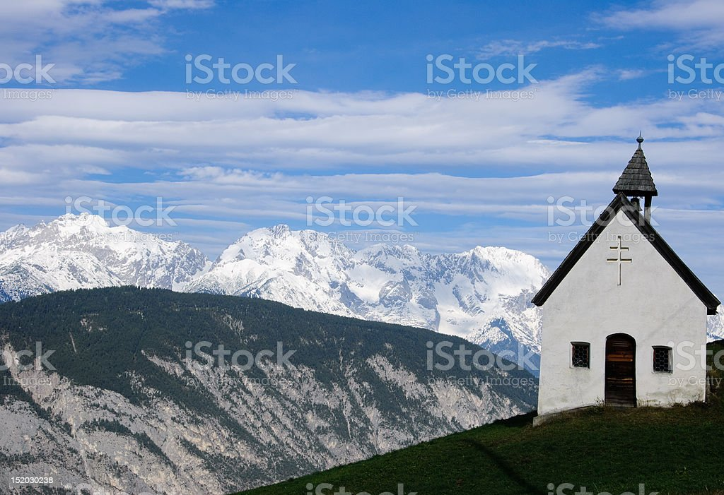 old chapel in the mountains tirol, alpen royalty-free stock photo