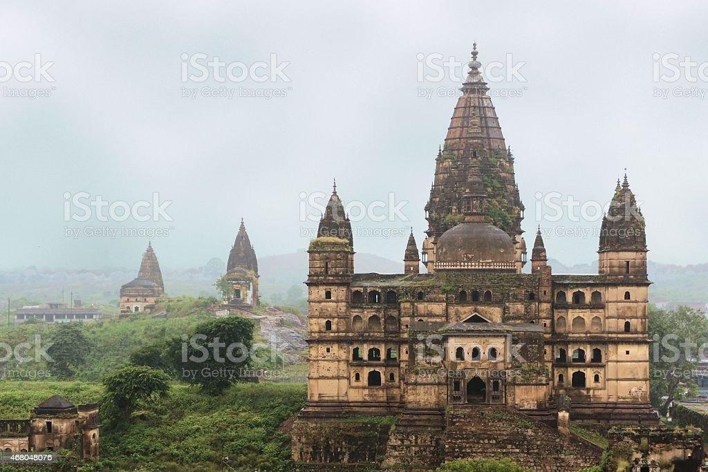 Old Chaturbhuj Hindu Temple, Orchha, India stock photo