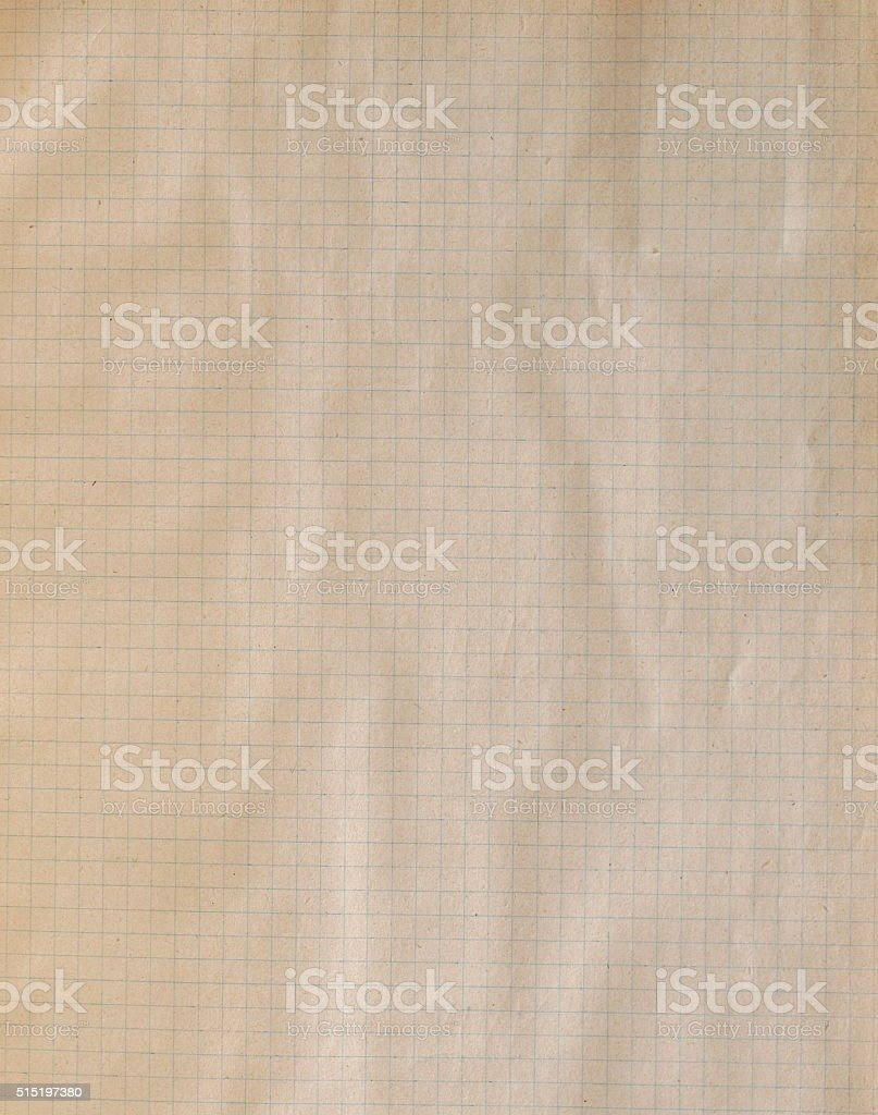 old checkered paper sheet stock photo
