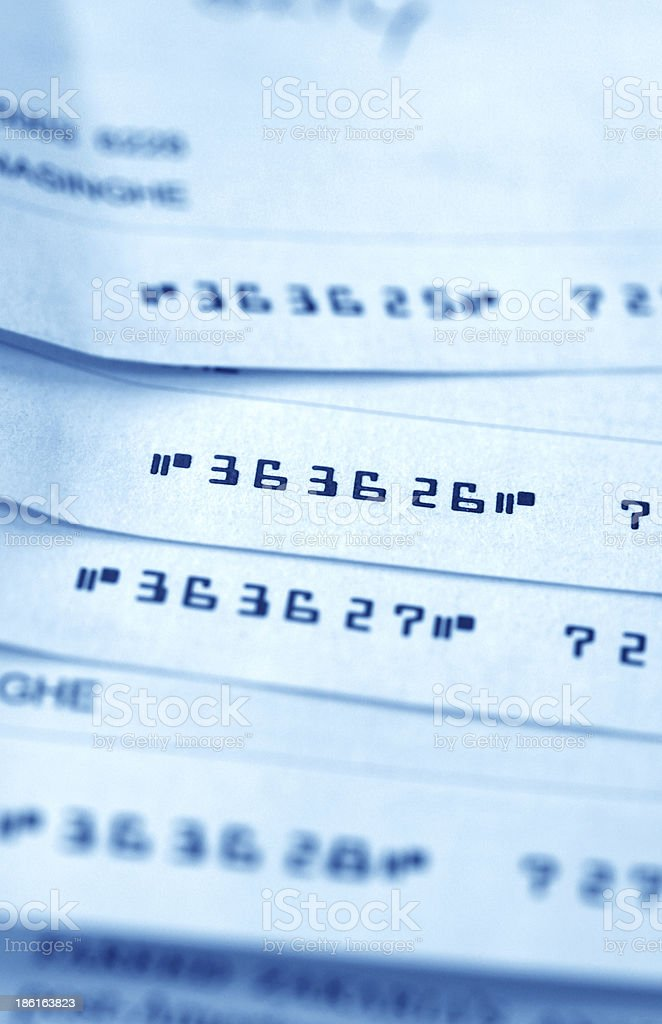 Old Cheque stock photo