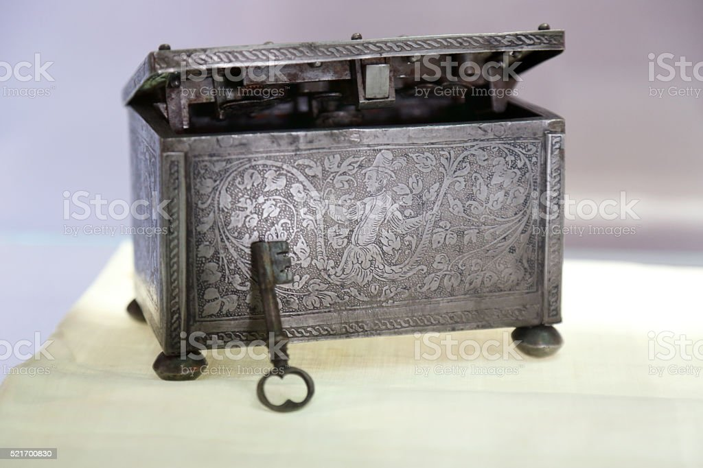 Old chest stock photo