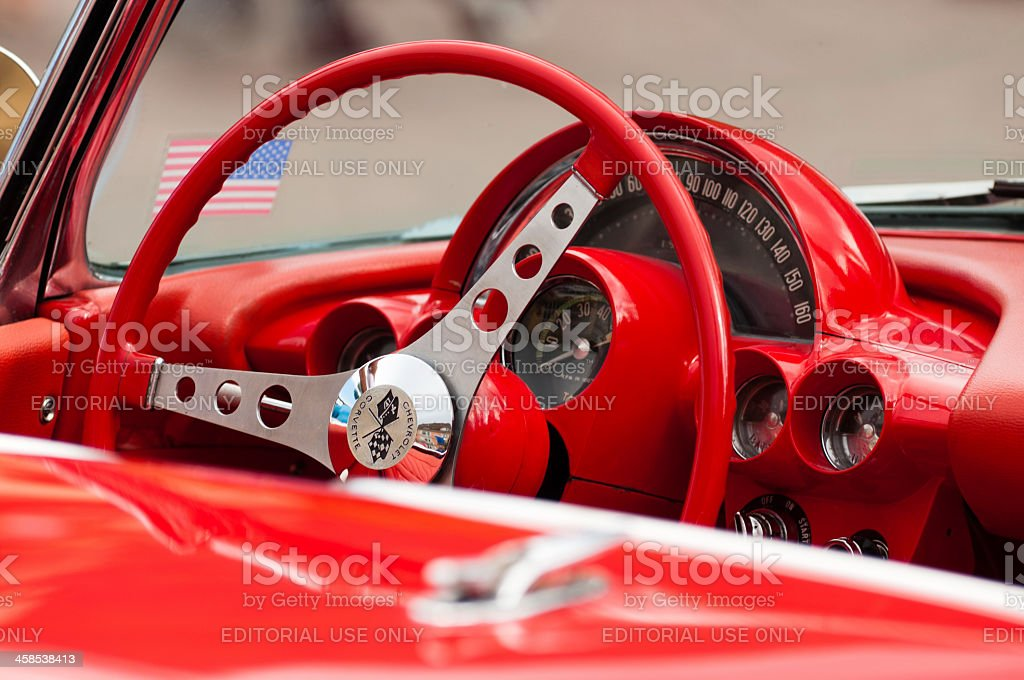 Old Chevrolet Corvette cabriolet royalty-free stock photo