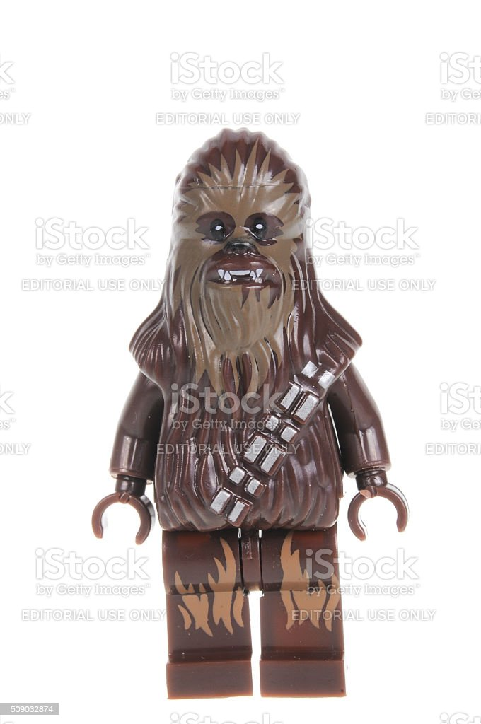 Old Chewbacca Force Awakens Lego Minifigure stock photo