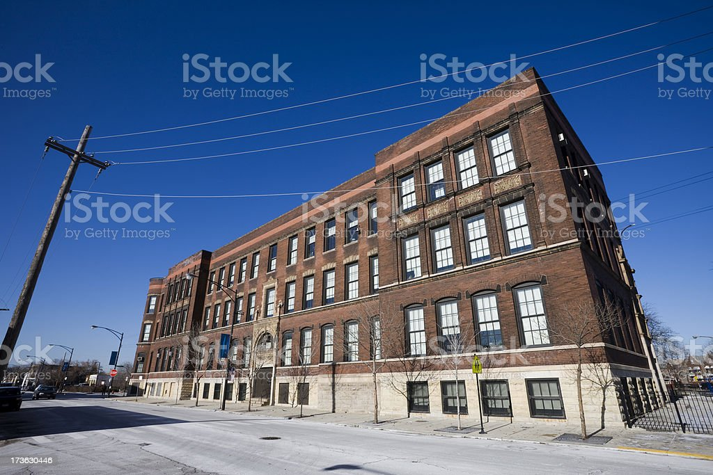 Old Chicago Elementary School stock photo