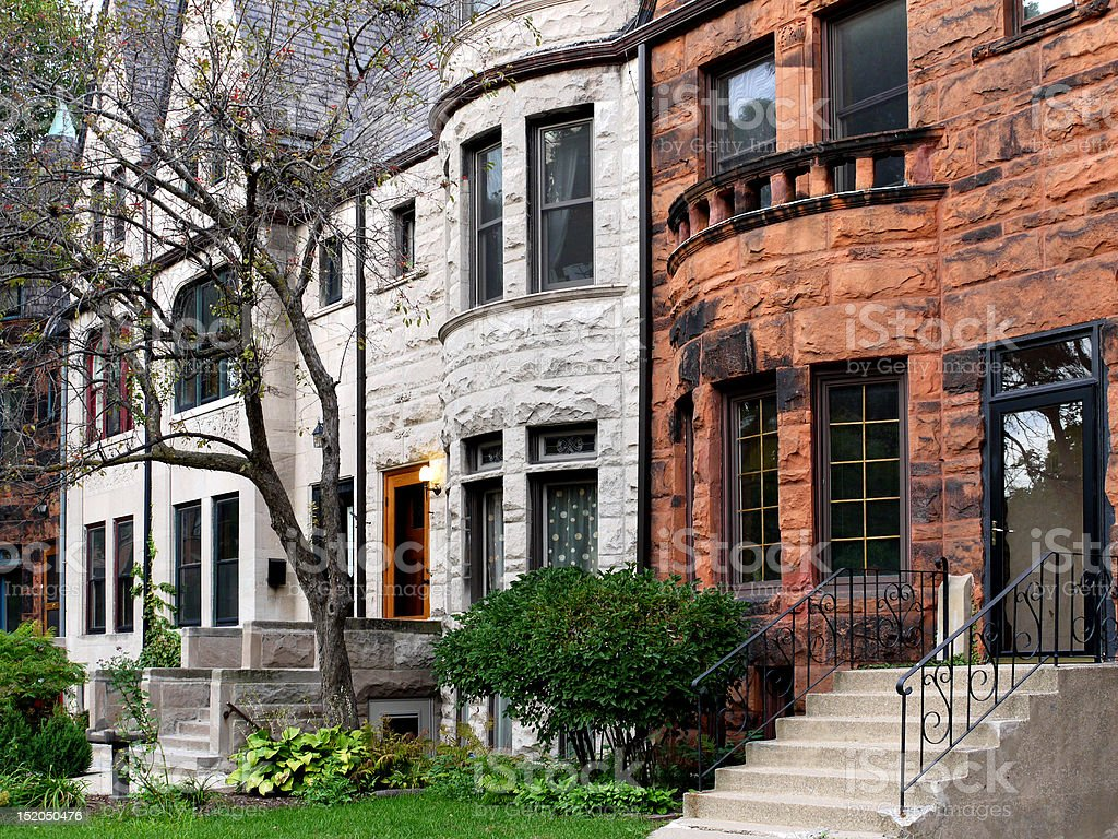 Old Chicago Houses stock photo