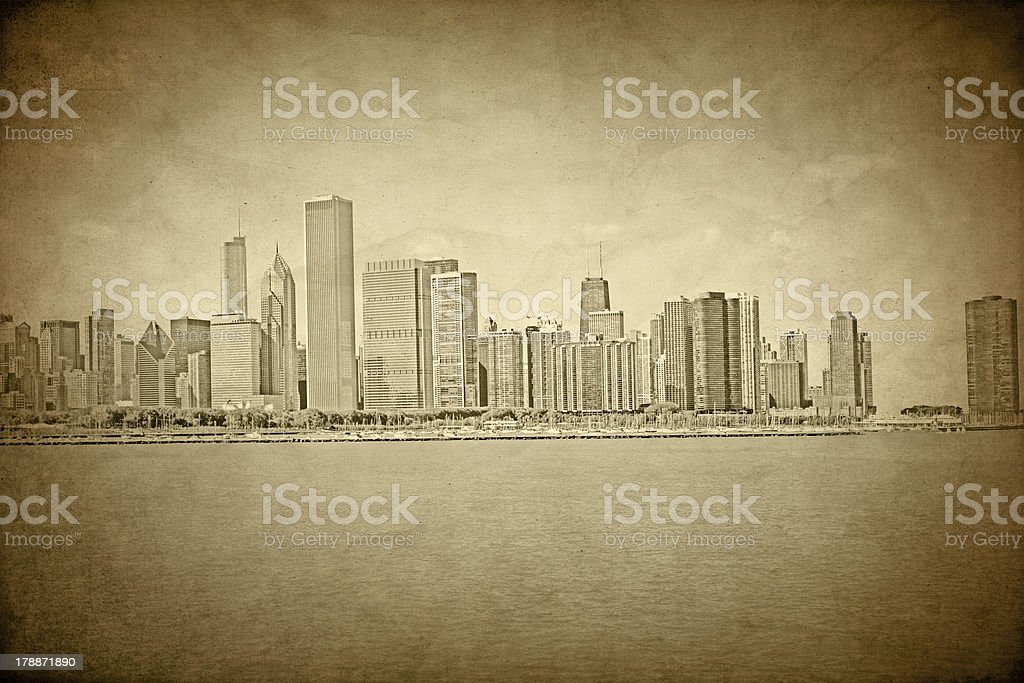 Old Chicago - Vintage Design royalty-free stock photo