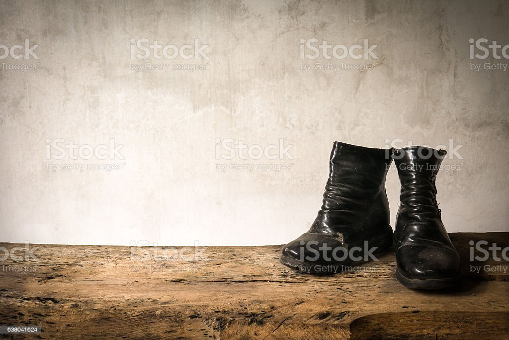 Old child deteriorate use for long time and dry wizen stock photo