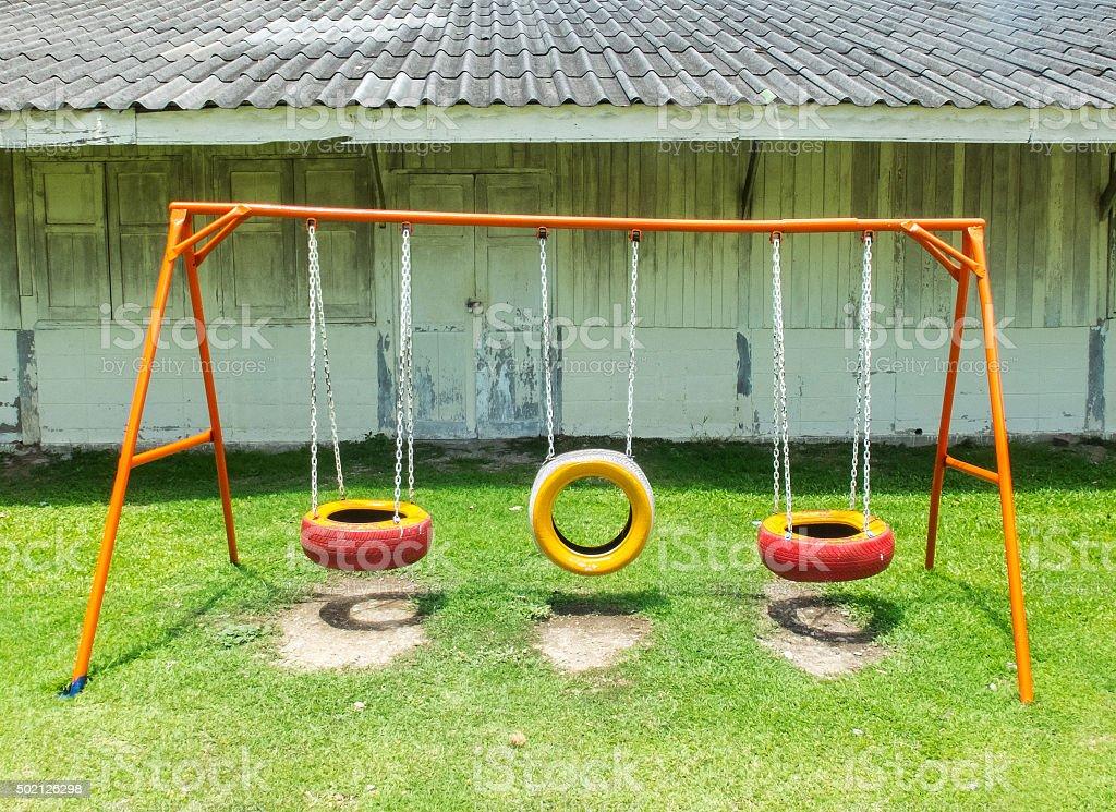 viejo patio de juegos para nios en tailandia foto de stock libre de derechos