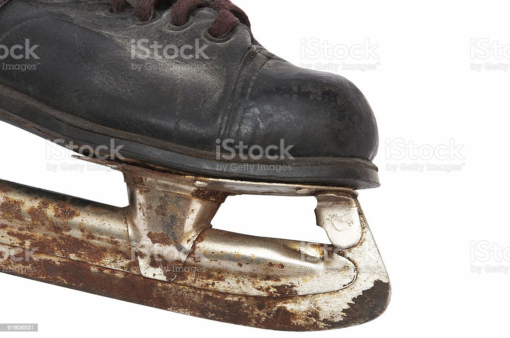 Old children's skates royalty-free stock photo