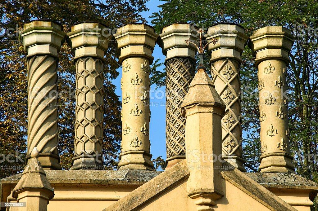 Old chimney stack stock photo