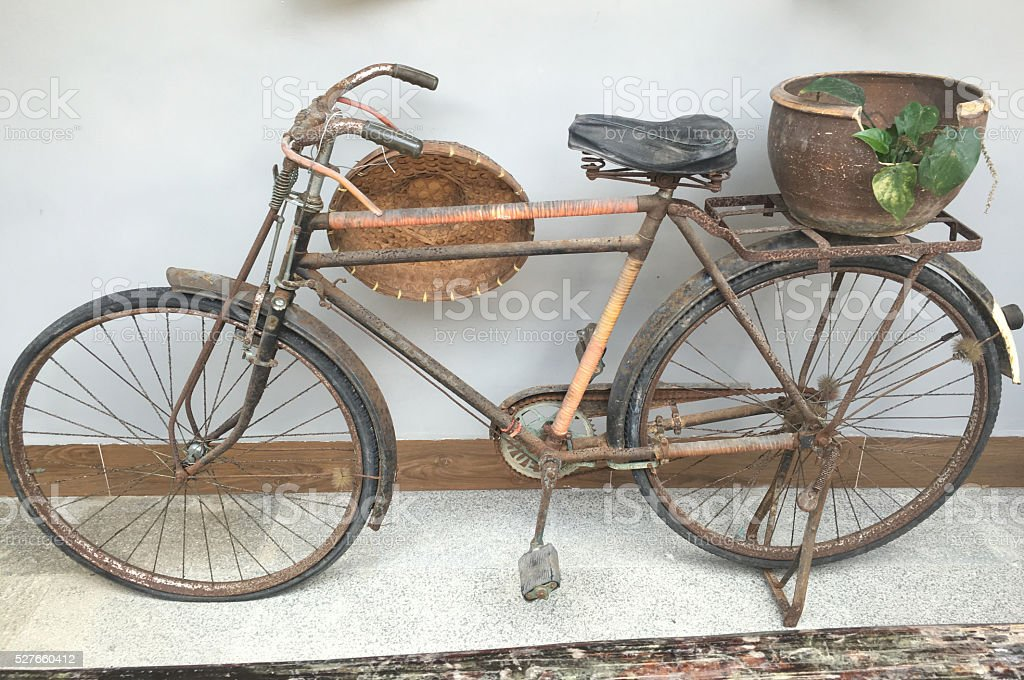 Old Chinese Bicycle stock photo
