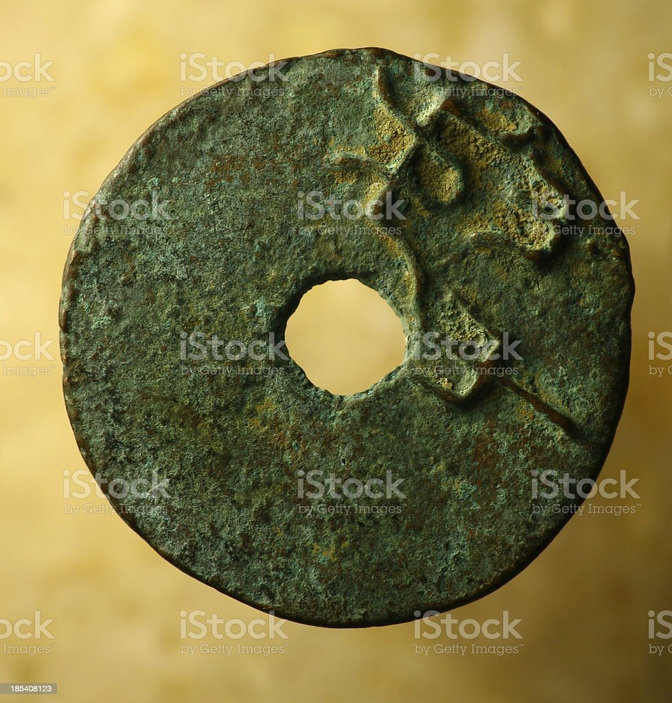 old chinese coin royalty-free stock photo