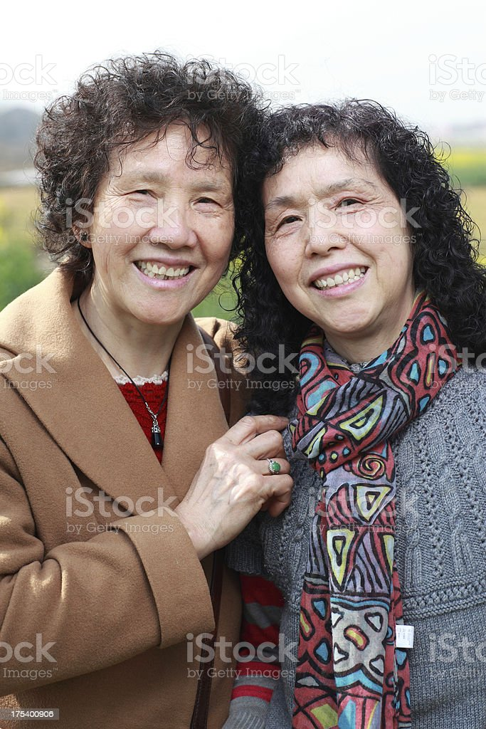 Old Chinese sister royalty-free stock photo