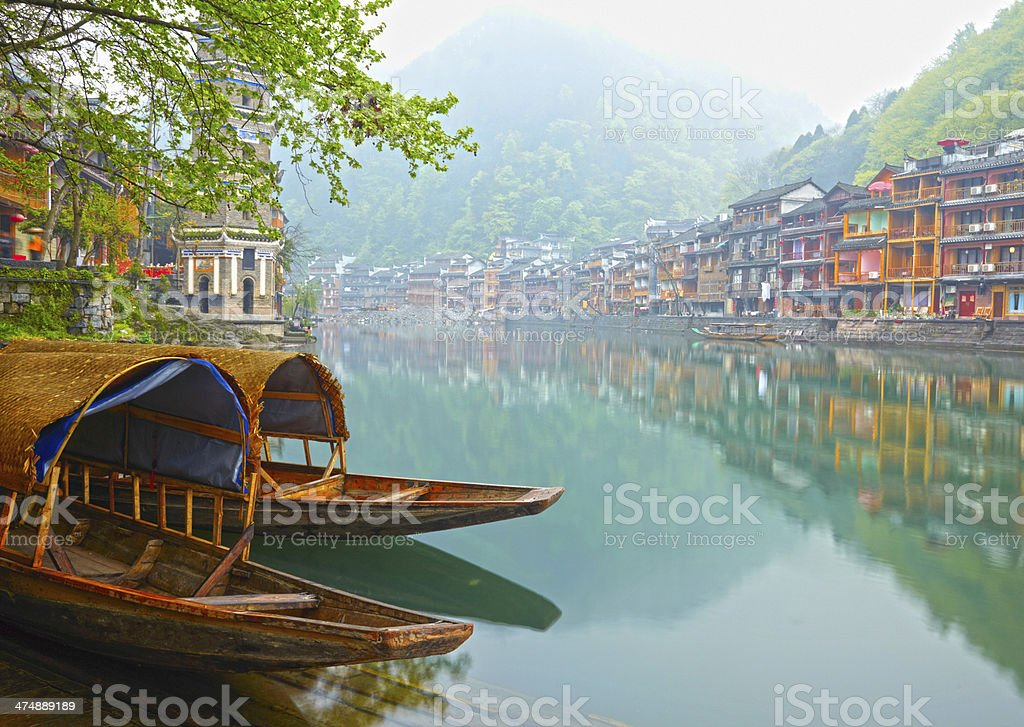 Old Chinese traditional town stock photo