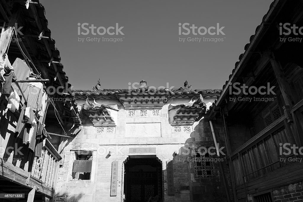 Old Chinese Village Buildings royalty-free stock photo