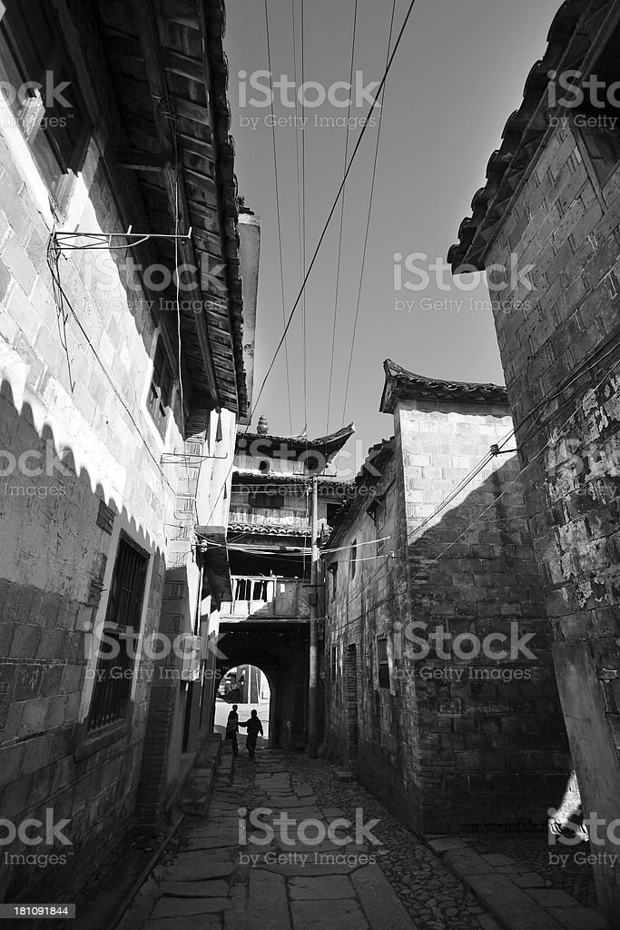 Old Chinese Village royalty-free stock photo