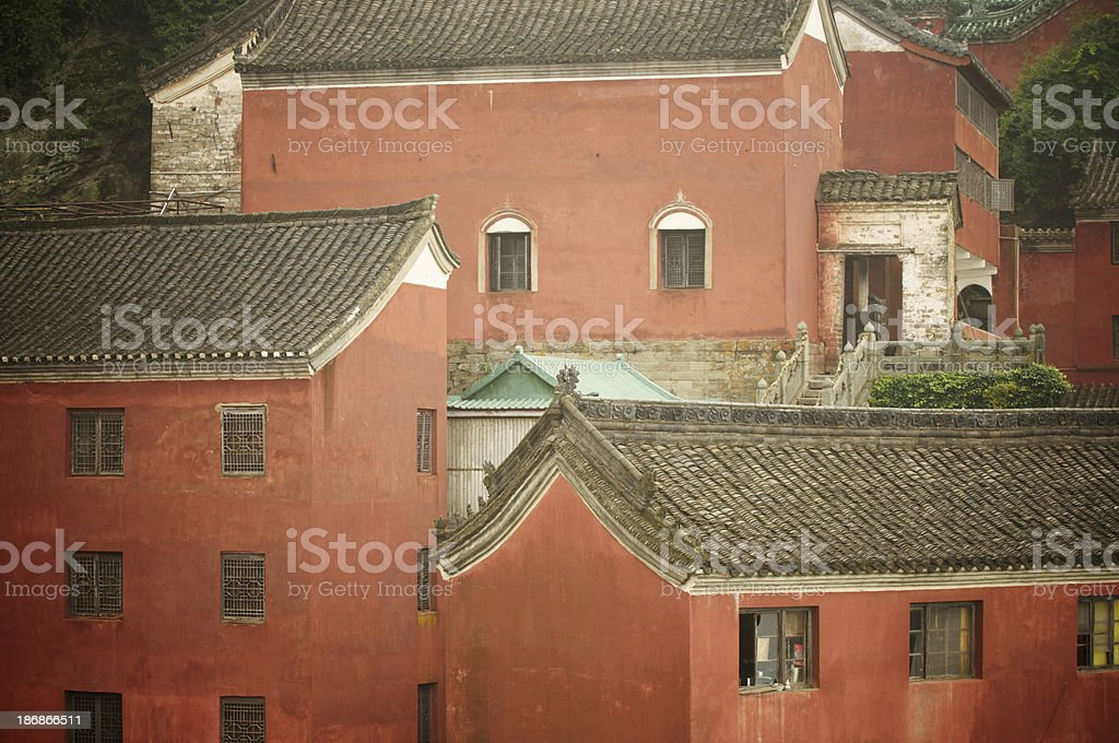 Old chinese village stock photo