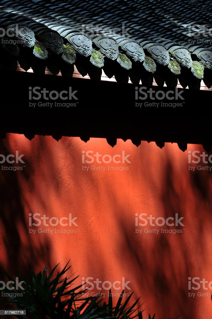 Old chinese wall stock photo