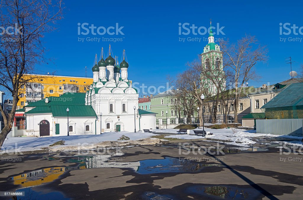 Old chirches in Zamoskvorechye. stock photo