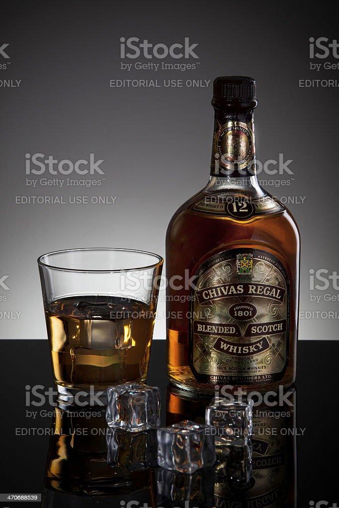 Old Chivas Regal Blended Scotch Whisky stock photo