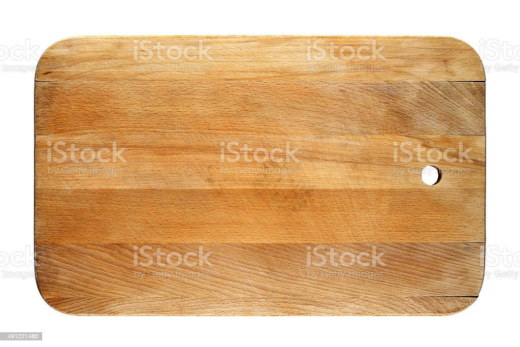 Old chopping board stock photo