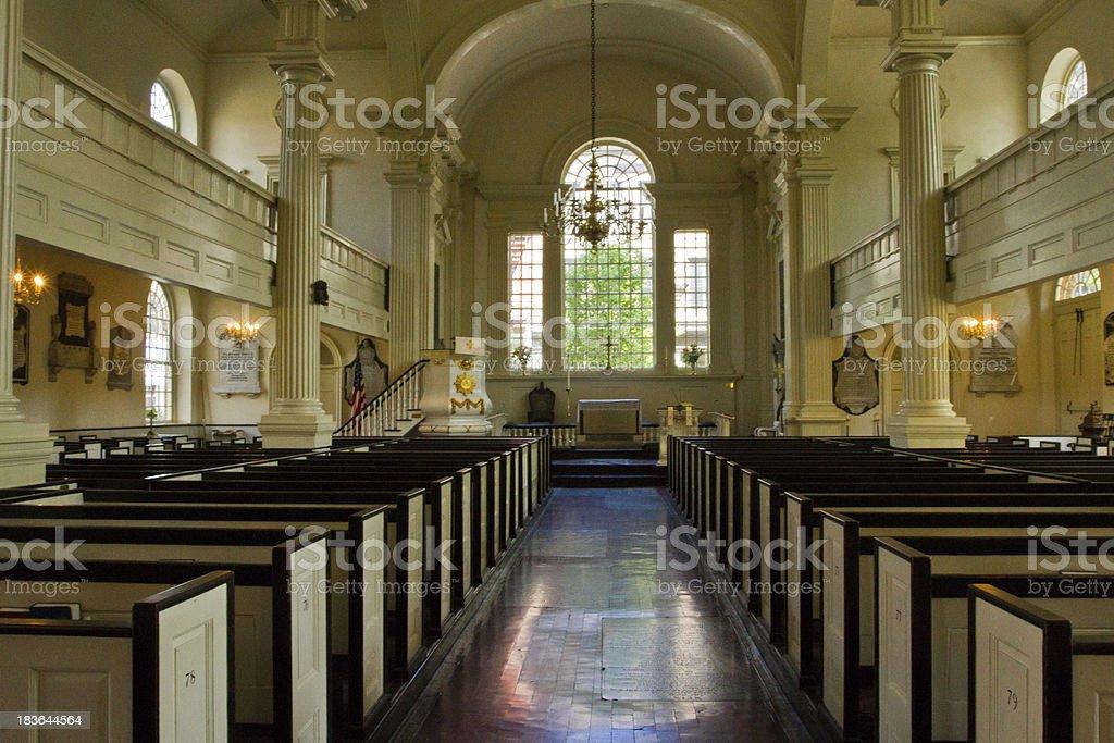Old Christ Church, in Philadelphia PA stock photo