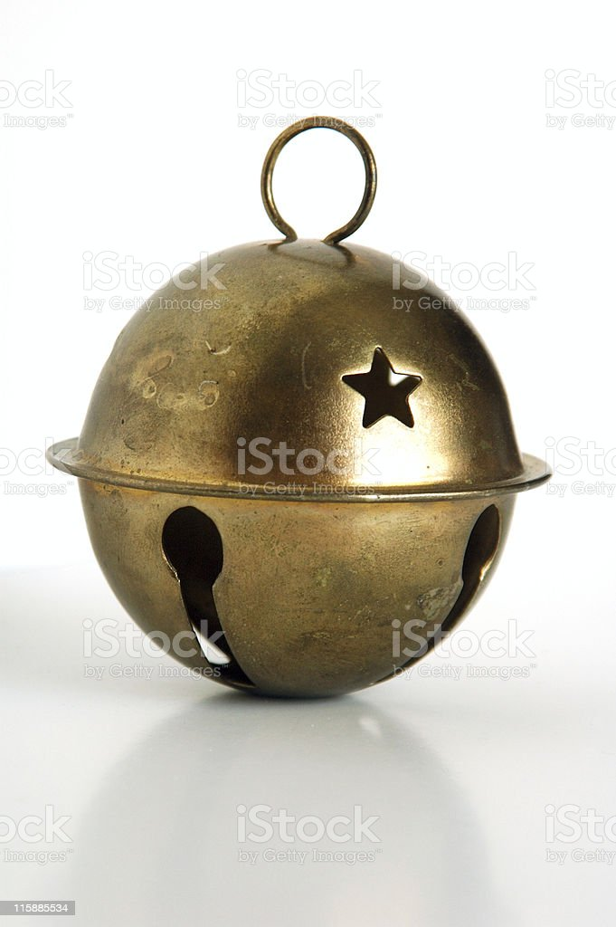 old Christmas bell stock photo