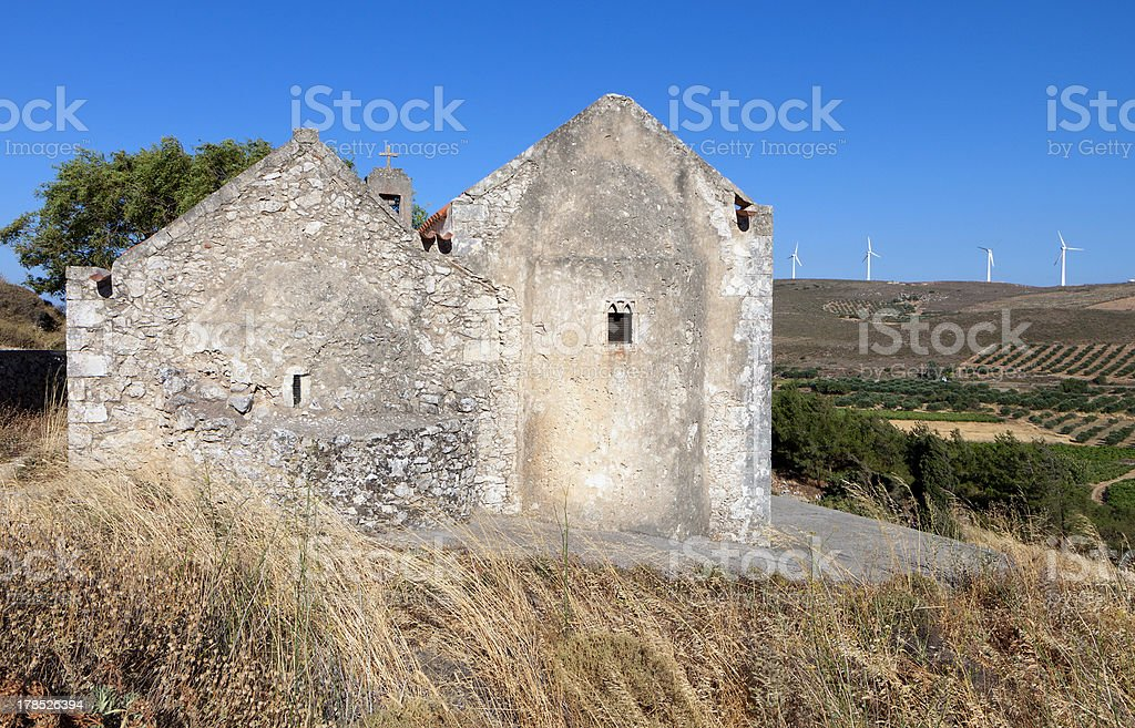 Old church at Crete island in Greece royalty-free stock photo