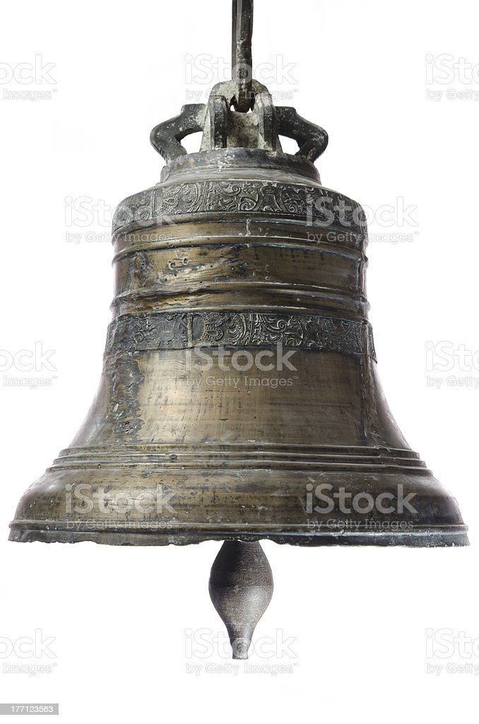 Old church bell. stock photo