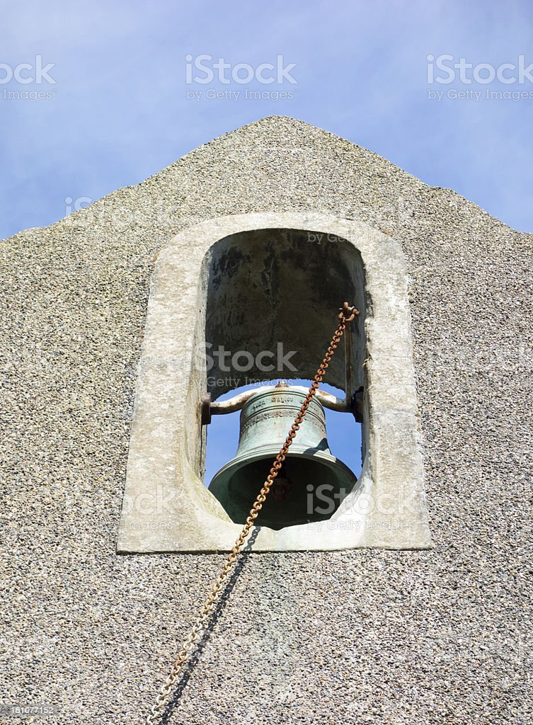 Old Church Bell with Pull stock photo