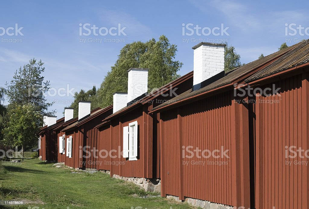 Old Church Cabins stock photo
