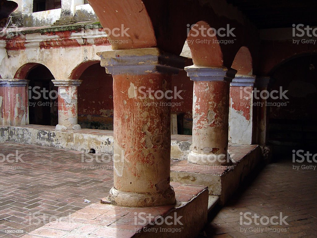 Old Church Cloister royalty-free stock photo