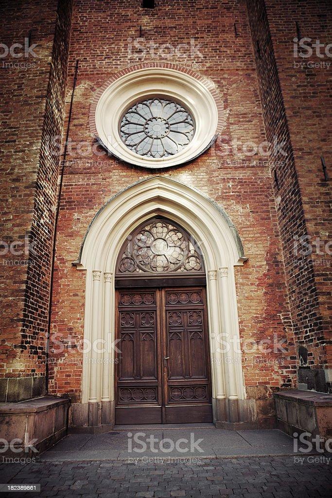 Old church door stock photo