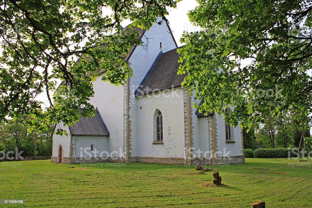 Old church. Estonia stock photo