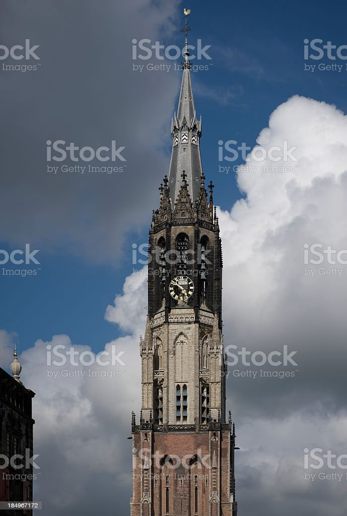 Old Church in Amsterdam stock photo