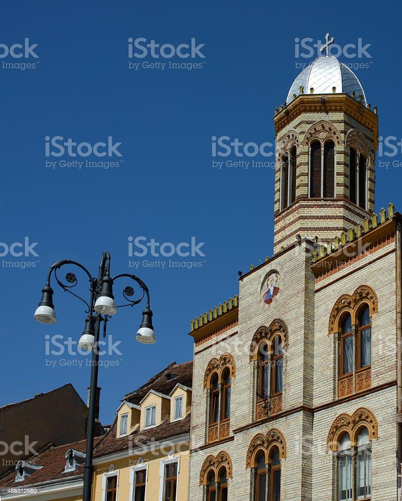 old church in Brasov stock photo