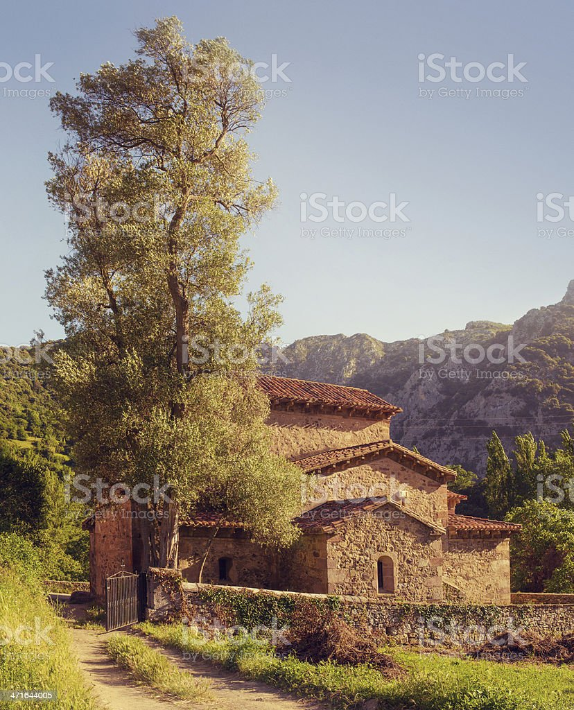 old church in cantabria royalty-free stock photo