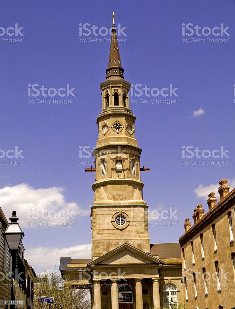 Old Church in Charleston, SC Under Repair royalty-free stock photo