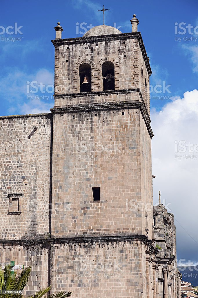 Old church in Cusco royalty-free stock photo