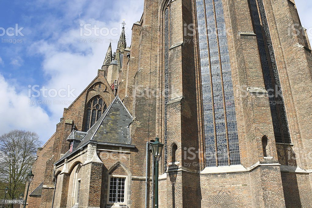 Old church in  Delft .  Holland royalty-free stock photo