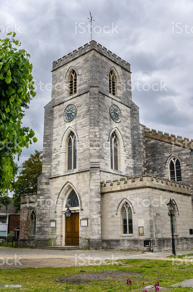 Old Church in Dorset, England stock photo