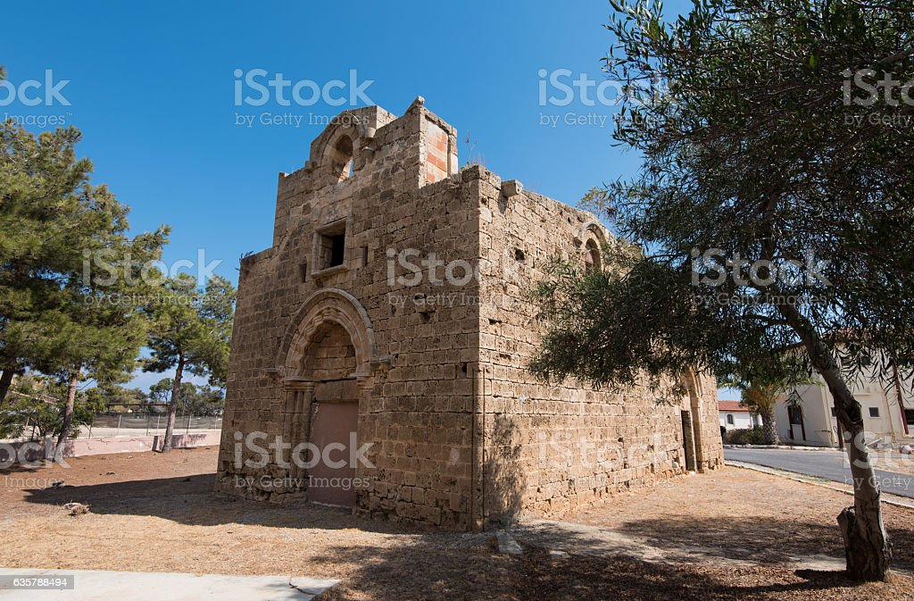 Old  church in Famagusta town Cyprus stock photo