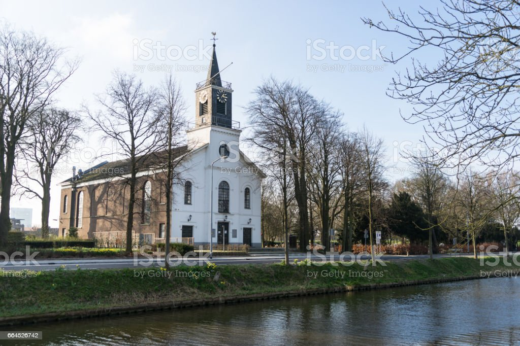 Old church in Hoofddorp stock photo