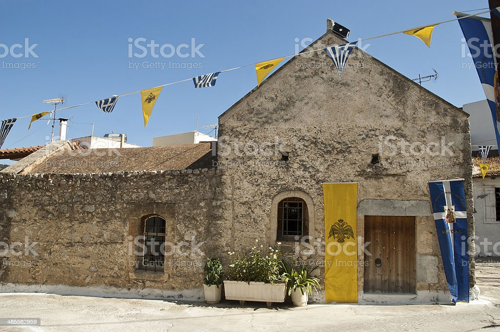 Old church in Kritsa village, Crete royalty-free stock photo