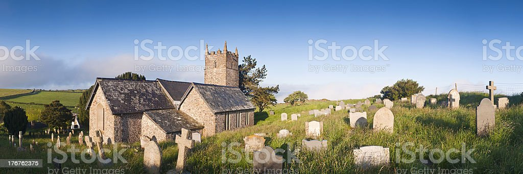 Old church in North Devon at springtime. stock photo