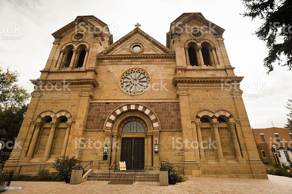 Old church in Santa Fe New Mexico royalty-free stock photo