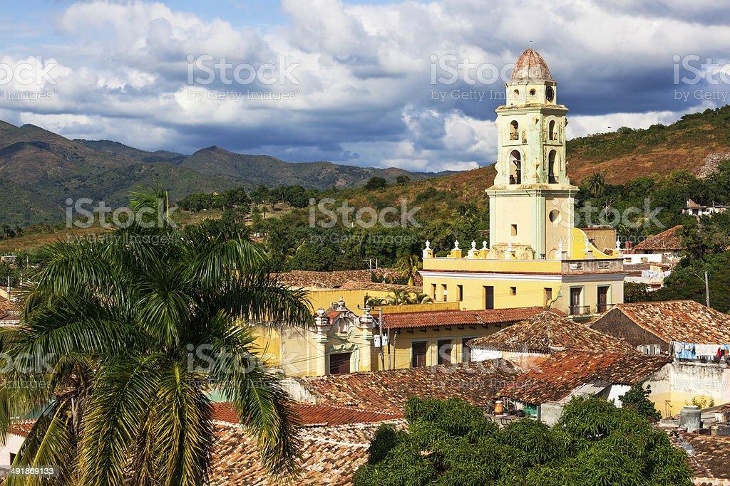 old church in Trinidad stock photo